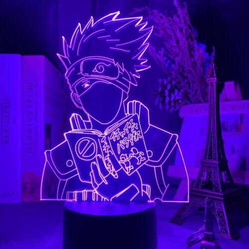Led 3D Nachtlicht Anime Naruto Kakashi Hatake Icha Icha Kinderzimmer Dekor Lampe