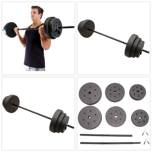 vinyle poids Home Workout Golds Gym Exercice Fitness environ 45.36 kg Poids Set Barbell 100 Lb