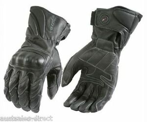 Mens Joe Rocket Sonic Street Cruiser Black Leather Motorcycle Gloves - Small S