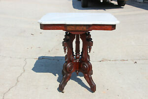 Fancy-Ornate-Walnut-Victorian-Shaped-Marble-Top-Parlor-Table-Ca-1870