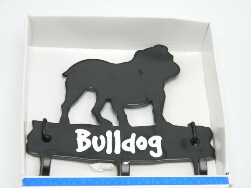 Bulldog Wall Hook Key Hanger Leash Dog Pet Metal Mount Hat Coat Home Decor