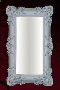 Dettagli su Specchio Muro Oro Bianco 96x57 Antico Barocco Shabby Chic  Corridoio Lavorato