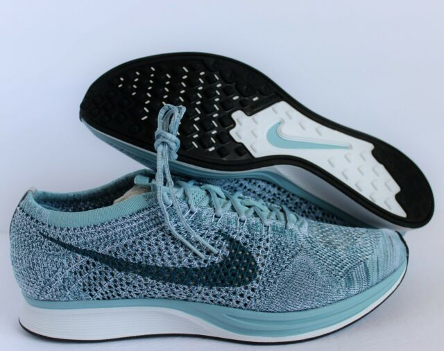 58f9a29584250 Nike Flyknit Racer Mens 526628-102 Mica Legion Blue Running Shoes ...
