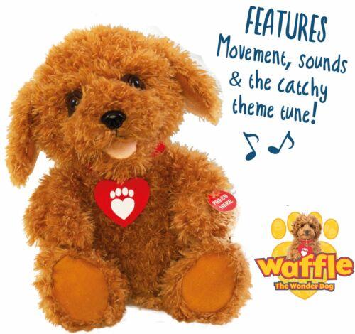 marron Waffle The Wonder Dog 3403 Interactif Jouet Doux