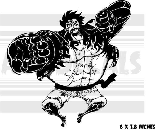 Bound man Anime Gear 4th Vinyl decal sticker One Piece Luffy