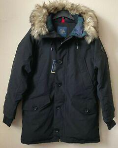 498-Polo-Ralph-Lauren-Faux-Fur-Trim-Down-Parka-Coat