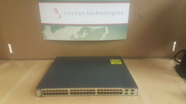 CISCO CATALYST 3750 WS-C3750-48PS-E V05 POE-48 PORT MANAGED L3 NETWORK SWITCH