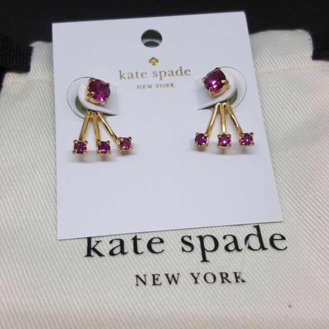 12bfc859fc0f Authentic Kate Spade Dainty Sparklers Ear Jacket Studs Earrings Gold Dust  Bag