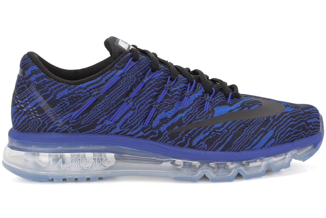 Nouveau Chaussures de course à pied Nike Hommes Air Max 2016 Print Bleu / Noir 818135-400 **