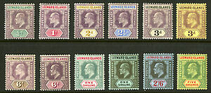 Leeward-Islands-1905-11-Scott-29-40-Mint-Lightly-Hinged-to-Mint-Hinged-Set