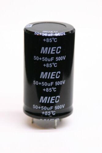 50 Doppel 50uf 500v 35 X 60mm Radial Elektrolyt Kondensator Löt Tags