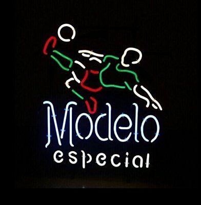 New MODELO ESPECIAL soccer Beer Light Lamp Neon Sign 20