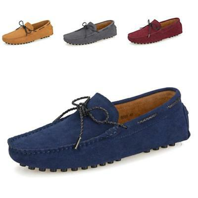 men driving moccasins slip on flats casual suede penny