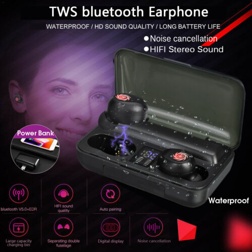 Mini Earbuds Stereo Headphones bluetooth5.0 Headset TWS Wireless Earphones