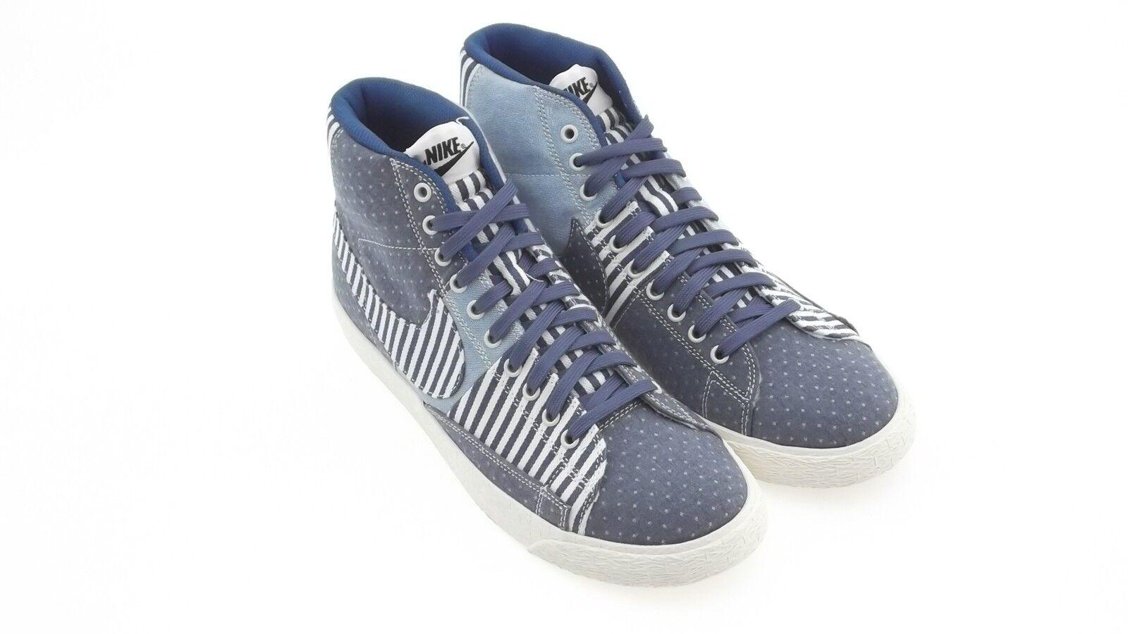 638322-402 Nike Men Nike Blazer Mid Premium Vintage QS denim patchwork shoes