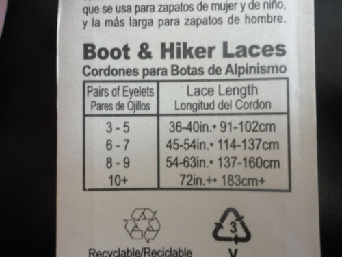 """54/"""" Boot and Work Shoelaces Gold//Tan Hiker Shoe Laces R096  Boot Laces"""