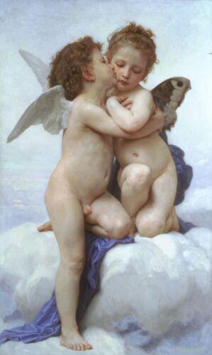 ZEIT4BILD William Adolphe Bouguereau Amor und Psyche BILD LEINWAND REPRODUKTION