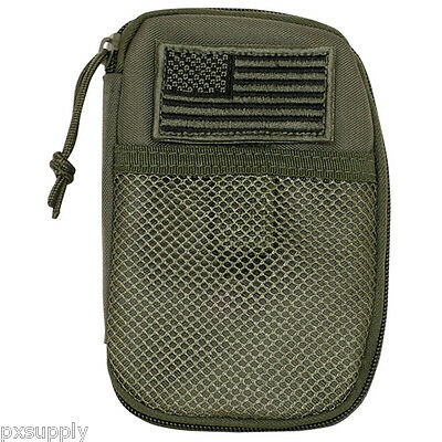 tactical wallet organizer usa flag patch olive drab fox outdoor 56-820