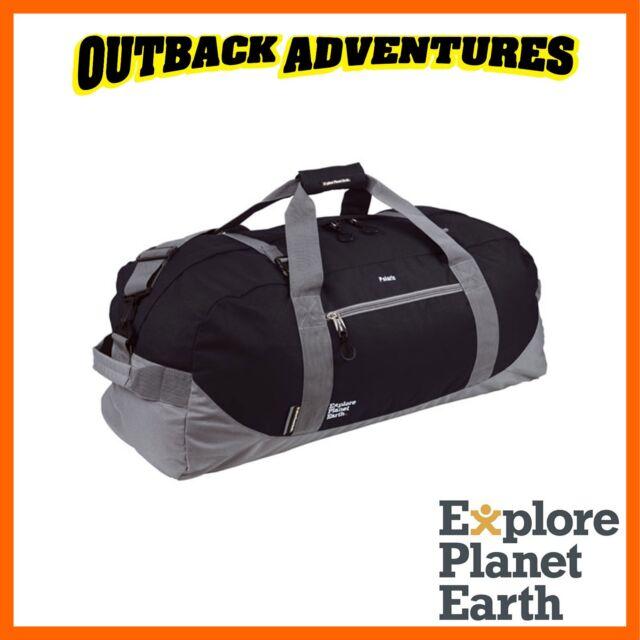 6c25701dad EXPLORE PLANET EARTH POLARIS 90L DUFFLE BAG BLACK CAMPING HIKING