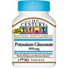 21st Century Potassium Gluconate 595 MG 110 Tablets