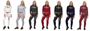 Ladies women 2 Piece Joggers Set Hooded Cropped Sweatshirt Tracksuit set