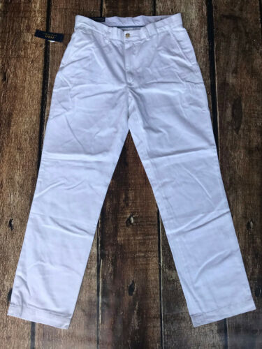 Polo Ralph Lauren Classic Fit Suffield Casual Chino Pants White Mens 32x30 New