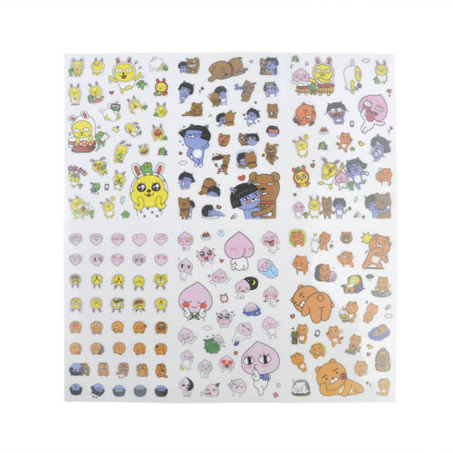 Kakao Friends Stickers Car Plant Kawaii Stationery DIY Scrapbooking Stickers