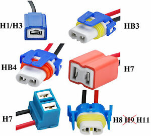2x keramik lampenfassung fassung h1 h3 hb3 hb4 h8 h11 stecker reparatur kabel ebay. Black Bedroom Furniture Sets. Home Design Ideas