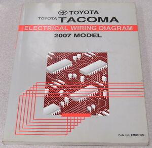 2007 toyota tacoma electrical wiring diagram service manual | ebay  ebay