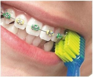Curaprox CS 5460 ORTHO Ultrasoft Toothbrush Grooved for Braces Brackets