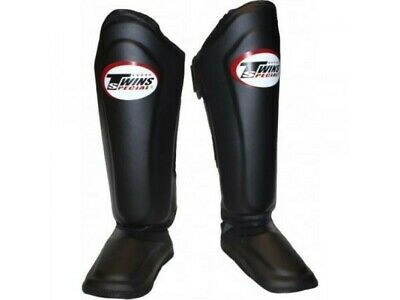 Top King Shin Pads Guards Semi Leather TKSGP-SL Black  Express Delivery