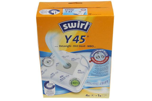 Swirl Y45 4 sacchi microfibra aspirapolvere Darel QZ DeLonghi Orbit Romeo Cleos