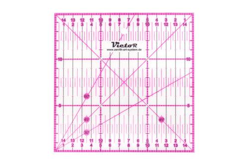 Victor transparentes Lineal zum Basteln Naehen Gelb Pink Patchwork in Blau