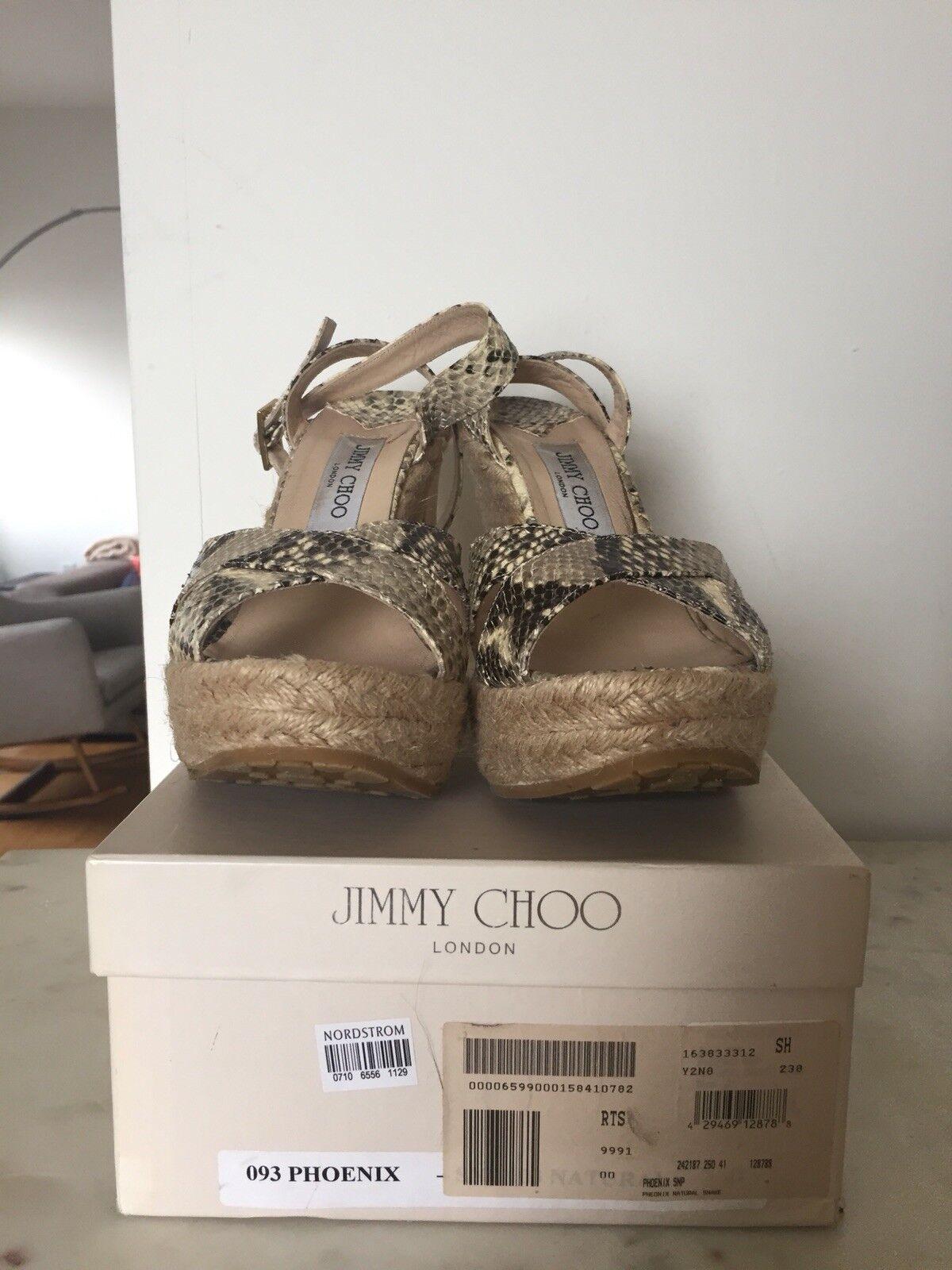 Jimmy Jimmy Jimmy Choo Phoenix snakeskin Espadrilles 41 817381