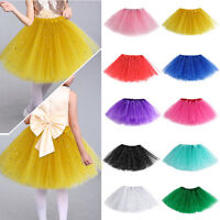 Girls Kids Tutu Skirt Party Ballet Dance Wear Princess Dress Pettiskirt Costume