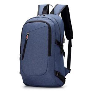Men/'s Anti-Theft Password Lock Backpack USB Charging  Shoulder School Bag
