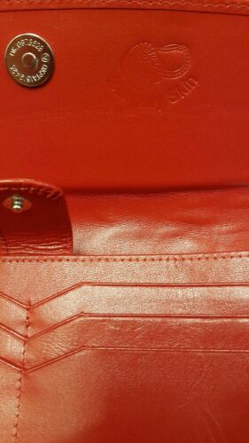 Genuine Stingray Wallets Skin Leather Long Trifold Clutch Women/'s Wallet Red