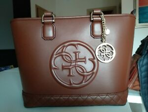 cuir Guess Sac Minimes faux Usᄄᆭ ᄄᄂ Signes main Brown en Marque Original FcK1lJ