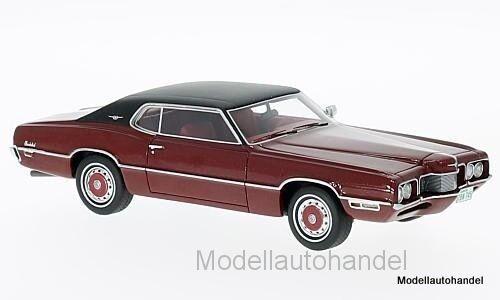 rosso scuro//nero 1970 1:43 NEO 47045 FORD Thunderbird 2-door Landau