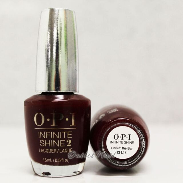 Opi Infinite Shine Raisin The Bar Air Dry 10 Day Nail Polish 0 5 Oz