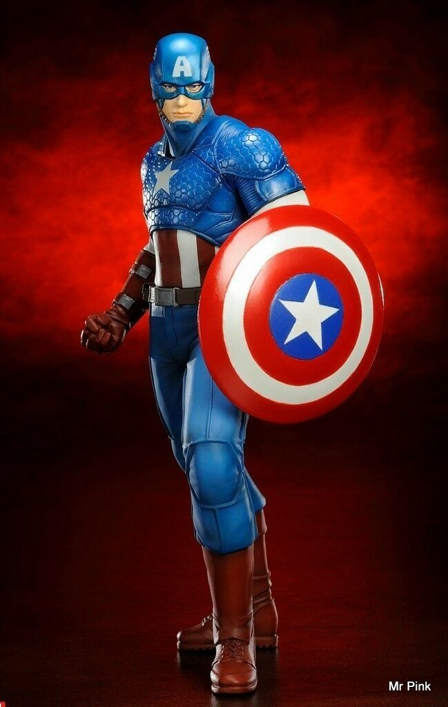 marvel jetzt captain america maßstab 1  10, artfx statue kotobukiya 18 cm neue
