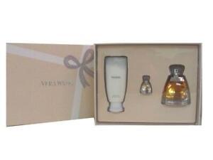 Vera-Wang-Perfume-Gift-Set-3-4-Oz-EDP-Spray-Body-Lotion-Miniature-for-Women