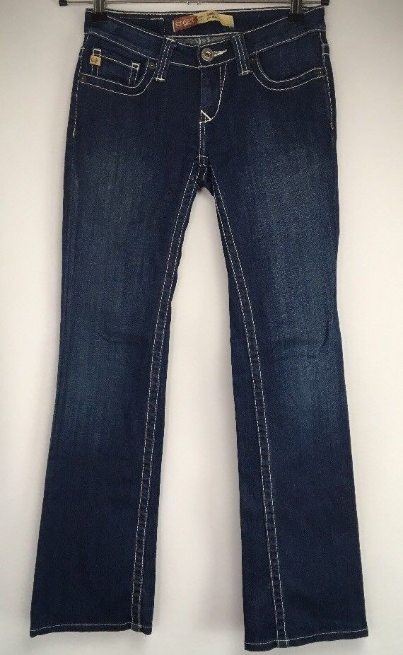 Big Star Remy Low Rise Fit bluee Slim Boot Cut Cotton Stretch Jeans Women's 24L