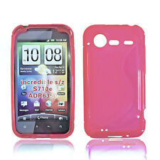 RUBBER SILIKON TPU HANDY COVER CASE Schale in PINK für HTC INCREDIBLE S