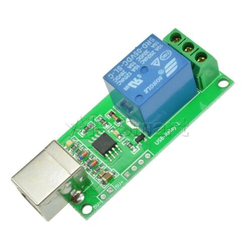 New USB Relay 5V 1 Channel Programmable Computer Control Relay For Smart Home