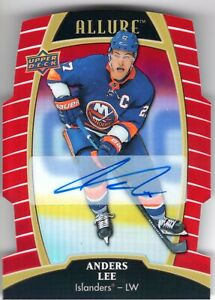 ANDERS-LEE-2019-20-UD-Allure-Red-Rainbow-AUTOGRAPH-die-cut-Islanders
