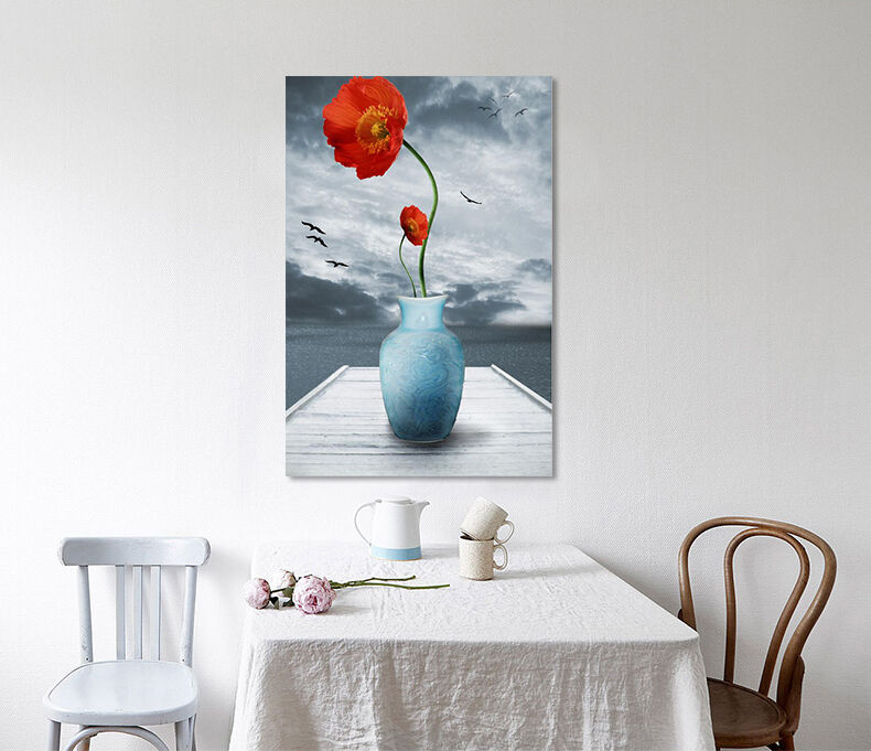 3D Nacht Vogel ROT Blumen 795 Fototapeten Wandbild BildTapete AJSTORE DE Lemon