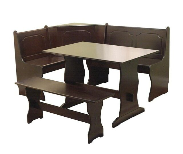 Target Marketing Systems 3 Piece Breakfast Nook Dining Set L Shaped Bench