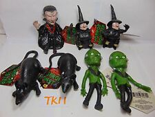7 TOY MAJOR STRETCHABLE HORROR MONSTERS WITCH-MOUSE-RAT-DRACULA-FRANKENSTEIN