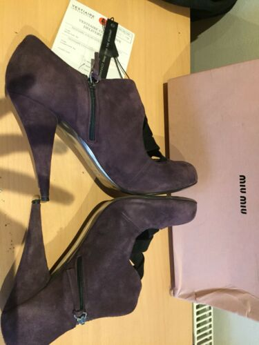 7 en l'aise à 40 Taille Bottines uk Miu Plum 7wx6qxY4z